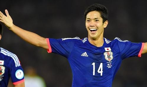 日本代表としてアジアカップを戦う現役慶應生、武藤嘉紀。