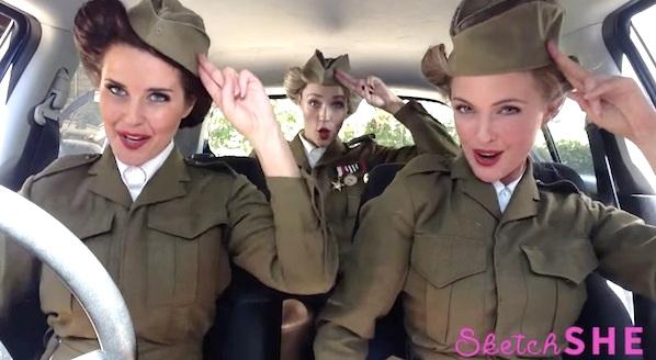 オーストラリアの美女3人組がポップミュージックの歴史を3分間で熱演!