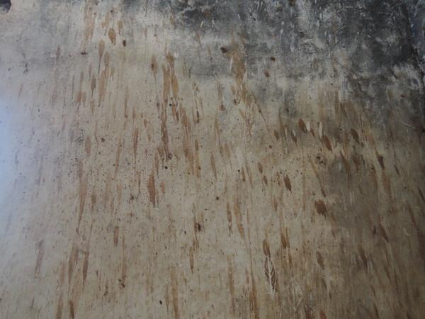 建物の内壁には、今も血の跡が残っています