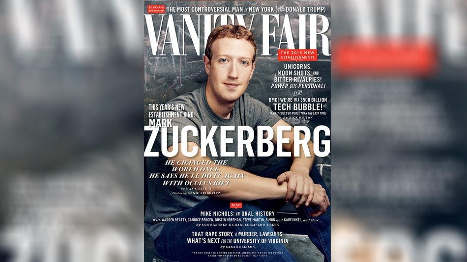 31歳の若さでの偉業!マーク・ザッカ―バーグがヴァニティ・フェア紙の表紙を飾る。